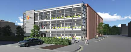 Artist's impression of the new Orion building.. Link to Orion building is next as development rolls on.