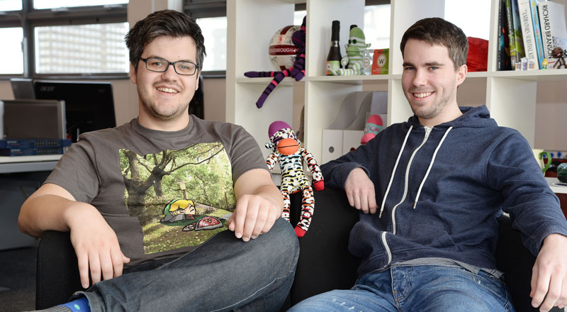Bob Makin (left) and Darren Cuthbert (right) of SockMonkey Studios