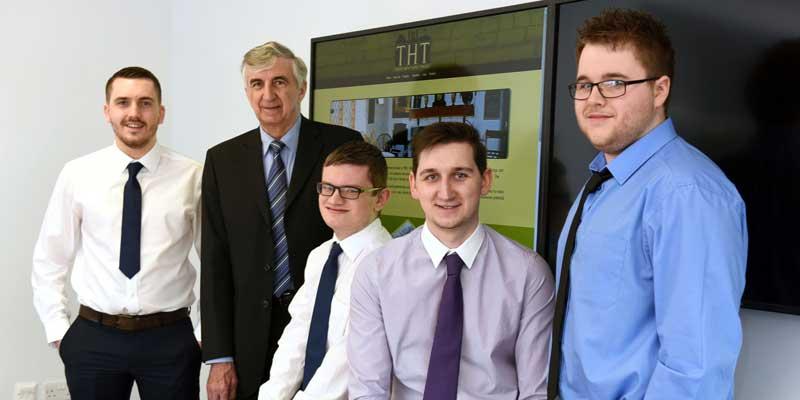 Tom Armstrong, Charles Morris, Chair of Tees Heritage Trust, Sam Stevenson, Adam Angell, Steven Dent.