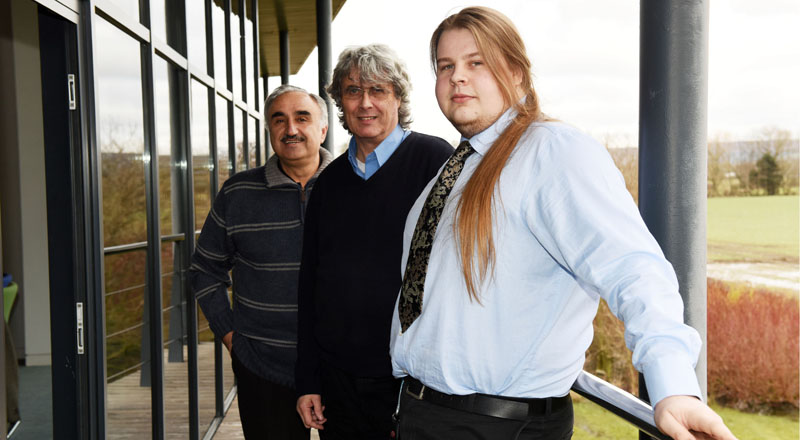 From left - Professor Nash Dawood, Dave Knudsen and David Craggs.