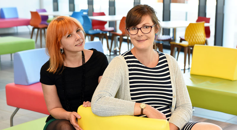 Dr Helen Davies (left) and Dr Sarah Ilott, organisers of the Mock the Weak comedy conference.. Link to Dr Helen Davies (left) and Dr Sarah Ilott, organisers of the Mock the Weak comedy conference..