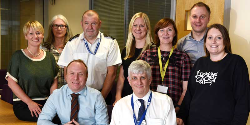 Teesside University and Holme House Prison staff who will be working together on the Inside Out programme.