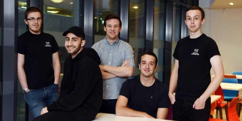 Darien Livermore, Daniel Nouri, Aidan Moore, Ryan Brown and Thor Bunting
