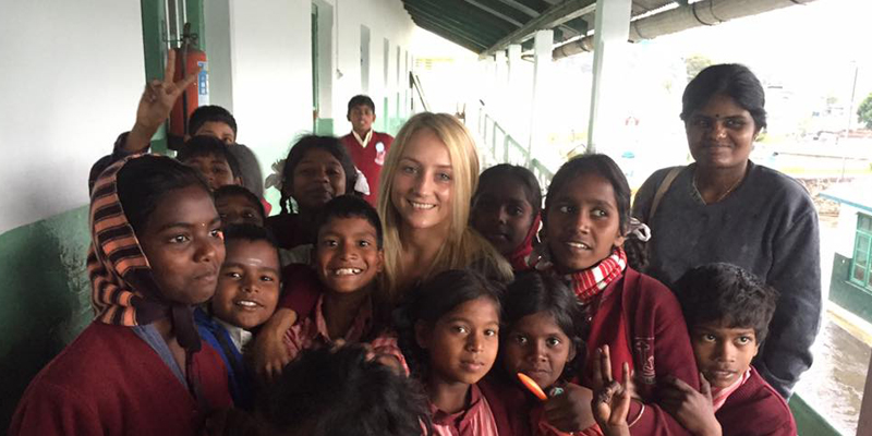 Amy Jury taking part in the Schoolhouse India Dental Camp