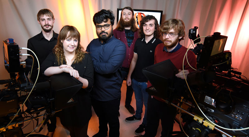 From left, Adam Mann, Clare Kirkpatrick, Srijith Jalapathy, Simon Thompson, Sam Smith, Ben Driver