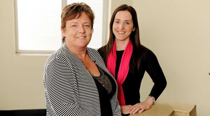 Professor Dorothy Newbury-Birch with Dr Emma Giles.