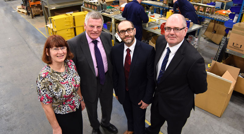 Carole Wright (Business Development Manager at Carroll & Meynell), Mike Meynell (Managing Director of Carroll & Meynell), Omar Al-Janabi (Business Innovation Manager at The Forge) and Lee Marshall (Commercial Manager at Carroll & Meynell).