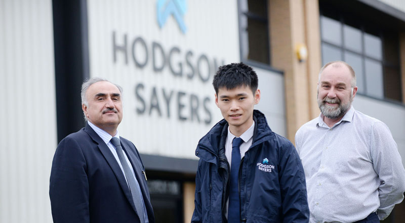 From left - Professor Nashwan Dawood, Kin Ma and Mike Wade.. Link to BIM research helps North East company double turnover.