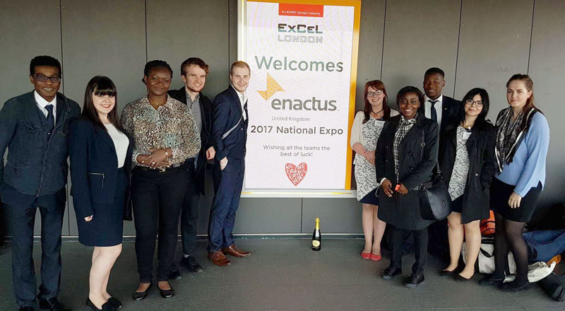 The Enactus Teesside team at the 2017 Enactus UK National Expo