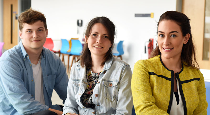 Pictured from left: Carl Meggs, Laura Woolley, Natalie Woods