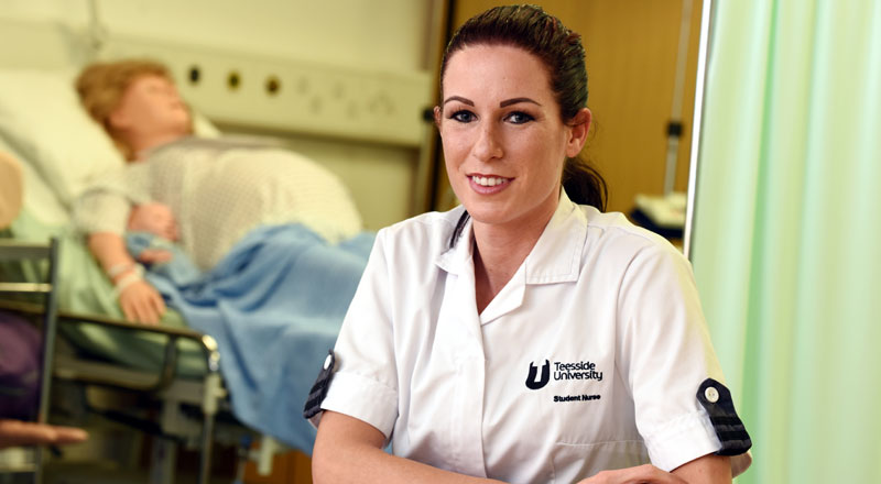 Award winning nursing student Kelly Spence