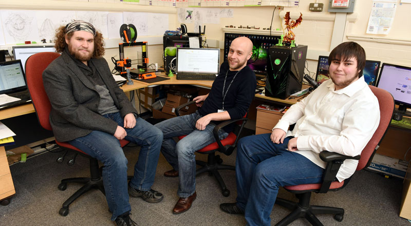 From left - Lawrence Williams, Kevin Miree and Jordan Knights of Hobgoblin 3D