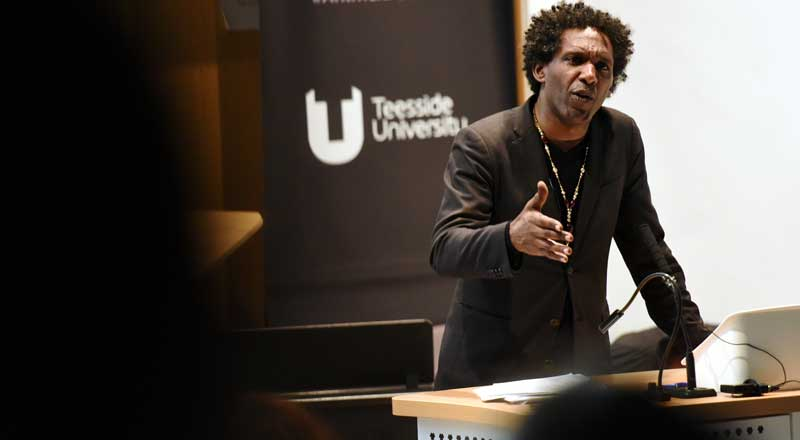 Lemn Sissay OBE. Link to Poet finds the right words to inspire care providers.