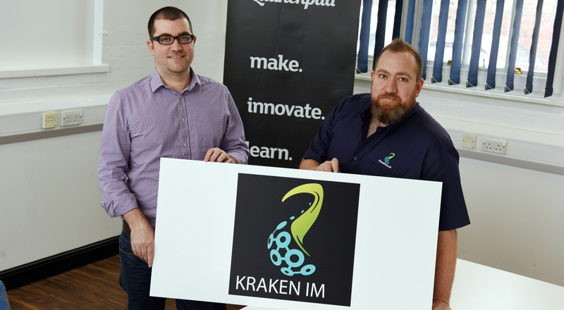 Geoff and Ian Cornwell of Kraken IM. Link to New software could save millions for engineering construction projects.