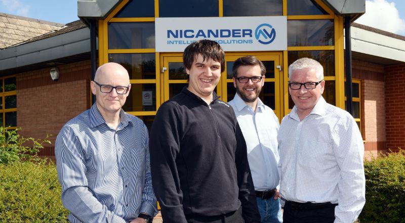 Scott Meikle (Principal Consultant, Nicander), Peter Southward, Tyrone Davison and Trevor Platt (Business Development Manager, Nicander).