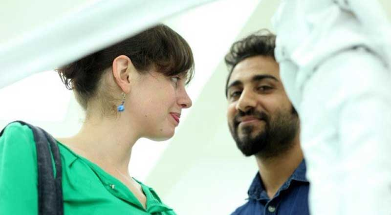 Dr Madeline Clements and artist Saud Baloch.