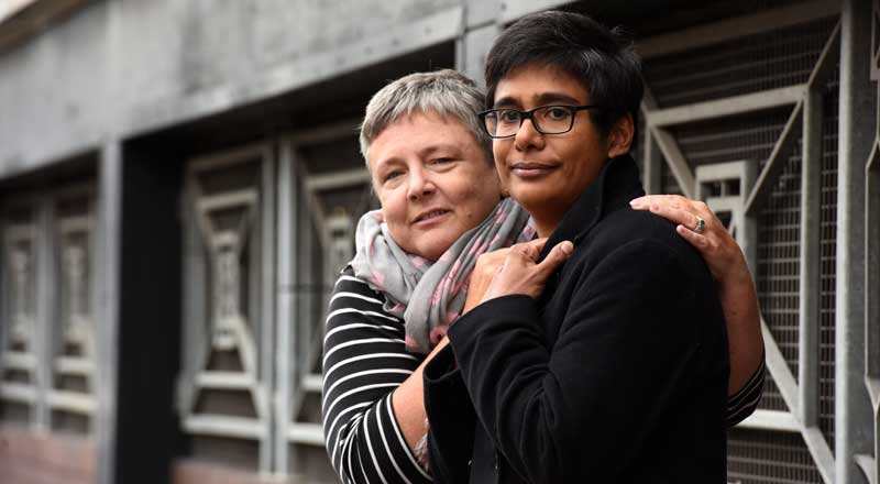 Professor Dorothy Newbury-Birch and Professor Azrini Wahidin.