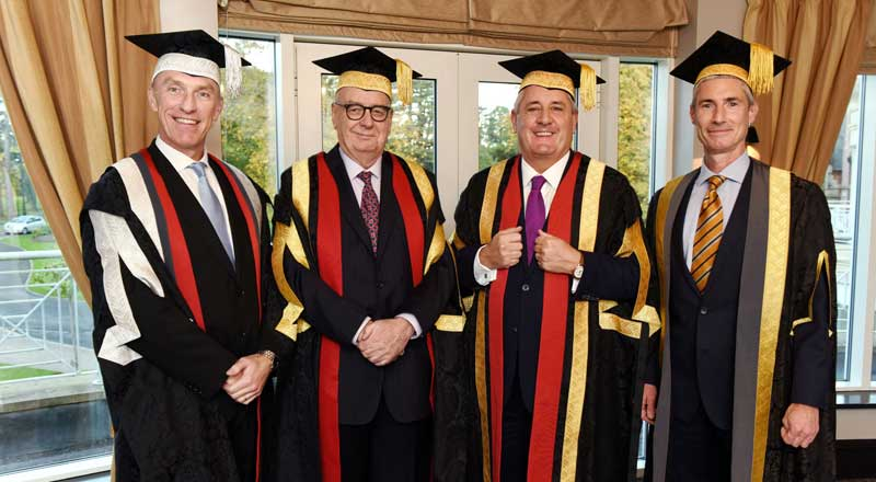 Professor Paul Croney, Lord Sawyer of Darlington, Paul Drechsler CBE and Alastair MacColl.