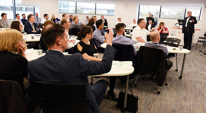 Business leaders at the Leading Digital Transformation event at Teesside University.. Link to How digital is transforming business.