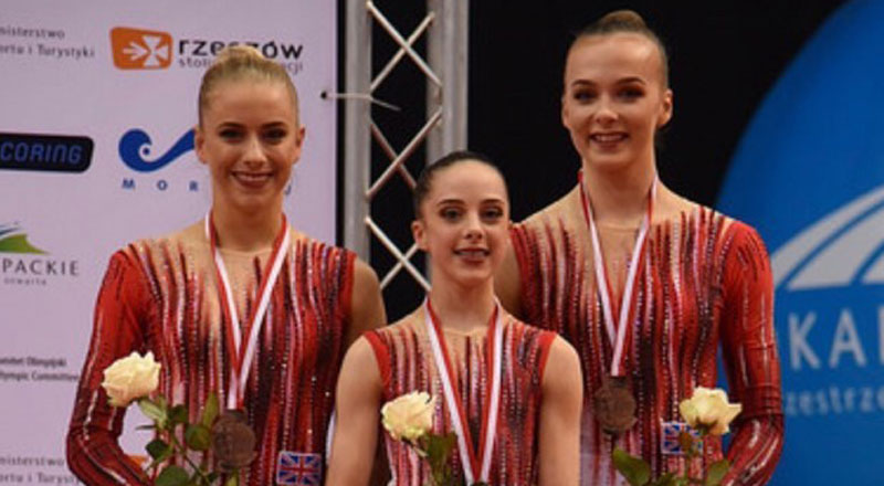 Caitlin Owston pictured with team members Bethany Macdougall and Amelia Pamler