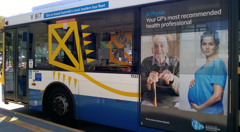 Picture taken by Victoria while in Australia of a marketing campaign promoting physiotherapy