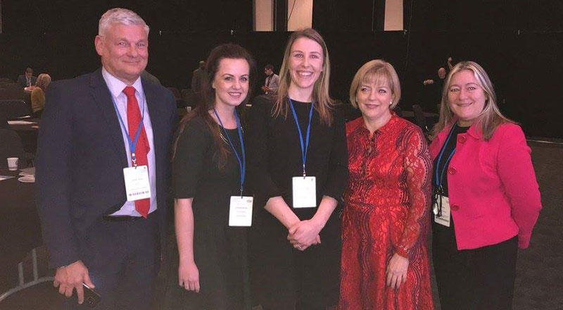 Left to right: Graham Jones, Charlotte Govier, Vicky Hawkes, Jane Cummings (Chief Nursing Officer England), Sue Smith (Executive Chief Nurse Morecombe Bay NHS Foundation Trust)