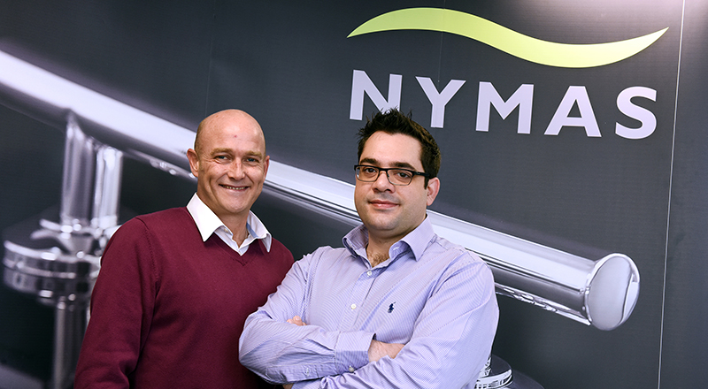 Business improvement coordinator Dr Thanos Klonis (right) and Product Design & Innovation Coordinator Lawrence Stratton (left) were taken on at NYMAS on Knowledge Exchange Internships through Innovate Tees Valley.