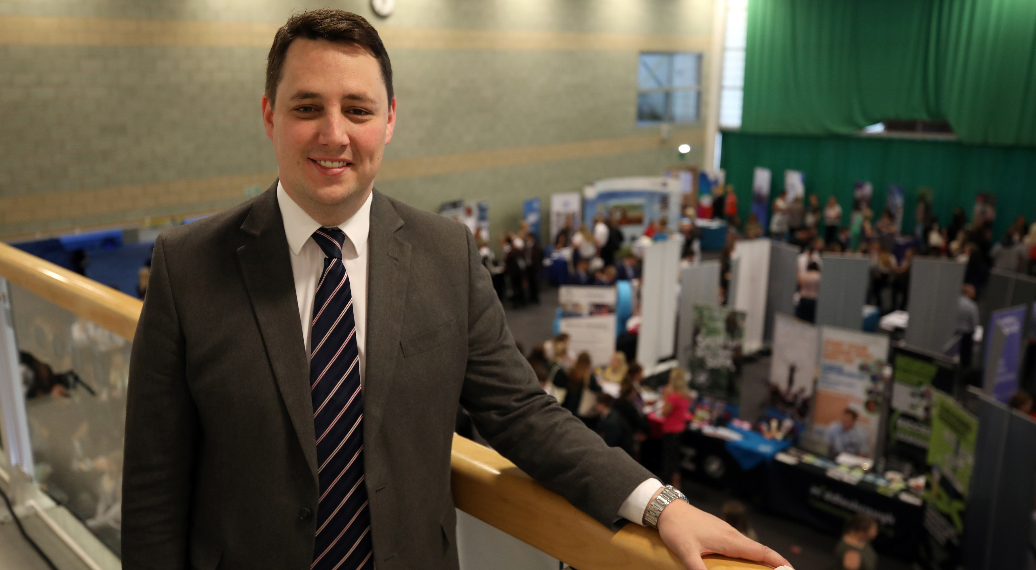 Tees Valley Mayor Ben Houchen at the Tees Valley Skills and STEM event.