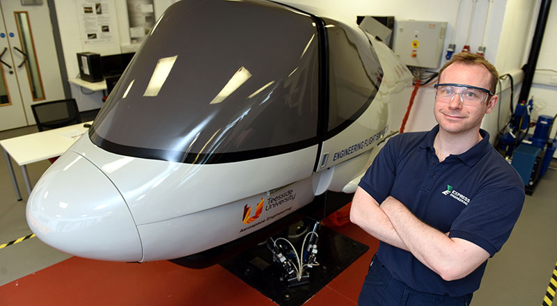 James Dent. Link to University provides lift off for ambitious engineering graduate.