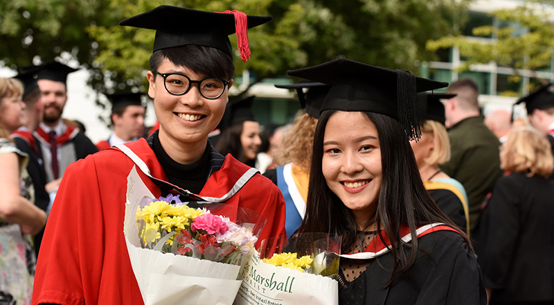 Link to International students graduate class of 2018 with distinction and first-class honours.