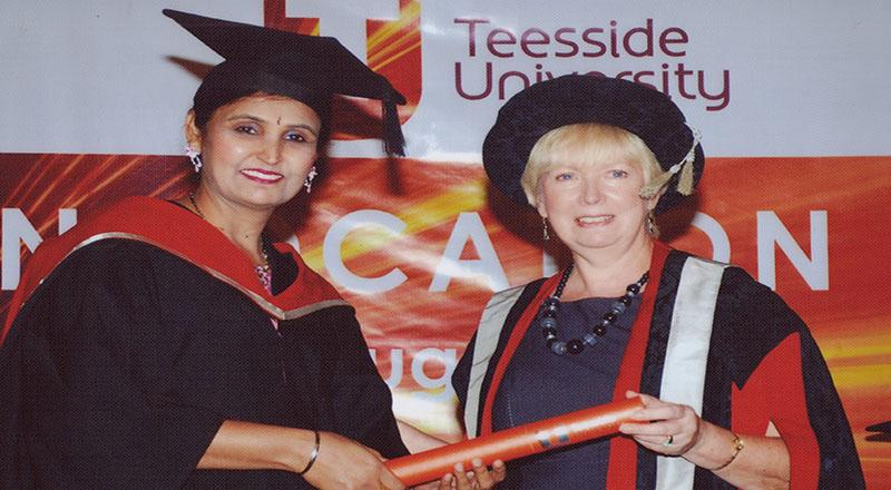 Link to  Malaysian Nursing graduate from Teesside University partner UiTM visits campus .