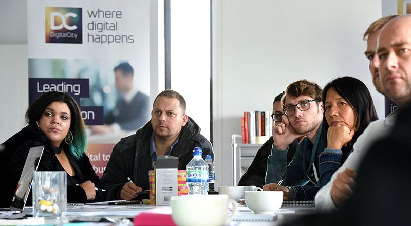 Entrepreneurs on the DigitalCity Fellowship Accelerator
