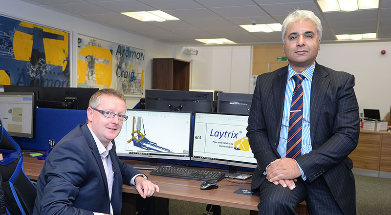 Andy Stevenson (left), founder and director of Ardmore Craig, with Suhail Aslam, Innovate Tees Valley Project Manager