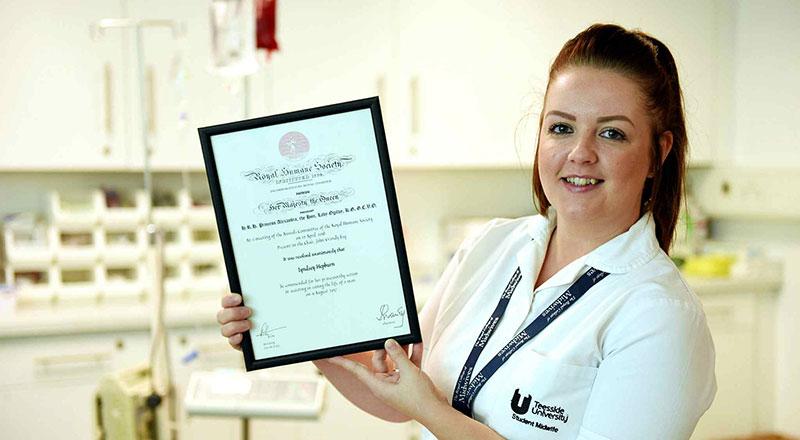 Lyndsey Hepburn with her Royal Humane Society Award