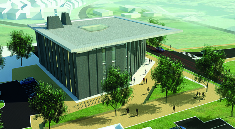 An artist's impression of the National Horizon's Centre