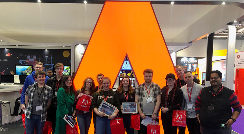 Teesside University students during the challenge