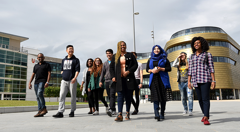 International students at Teesside University. Link to Teesside University tops international student satisfaction survey .