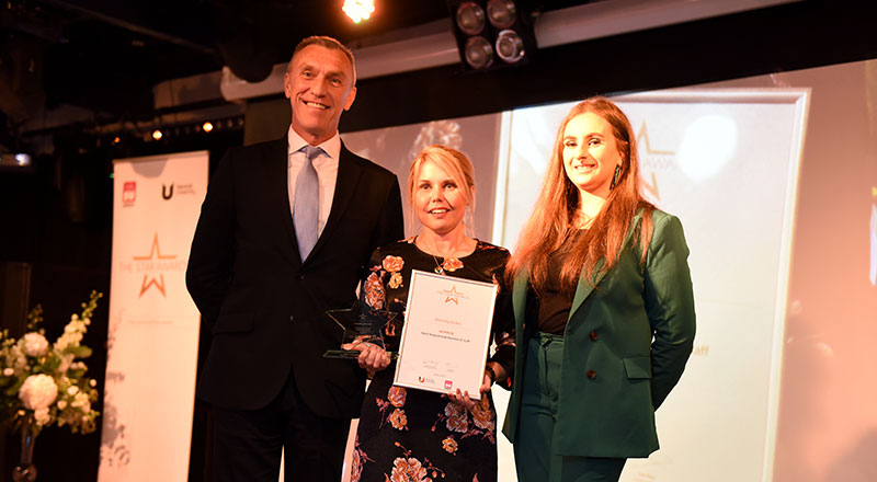 Beverly Boden (centre) won Most Inspirational Member of Staff.