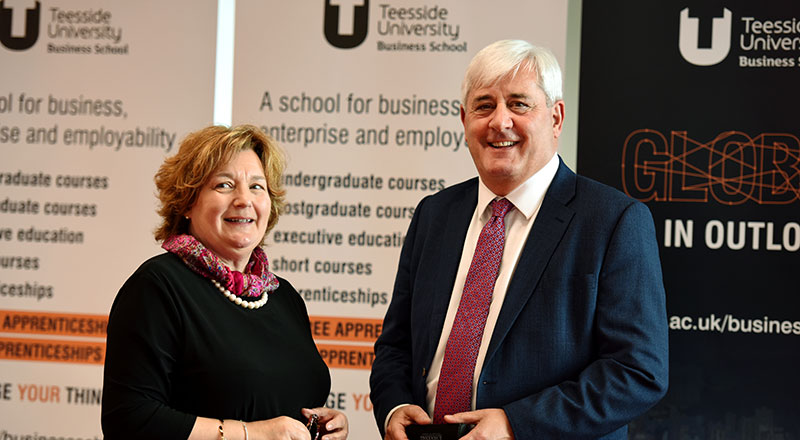 Paul Drechsler CBE and Dr Susan Laing.. Link to Creating an ecosystem to enable the Tees Valley to succeed.