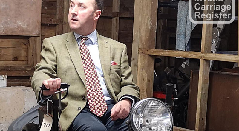 Veterans Services Manager, Mark Steed, with the rare invalid carriage