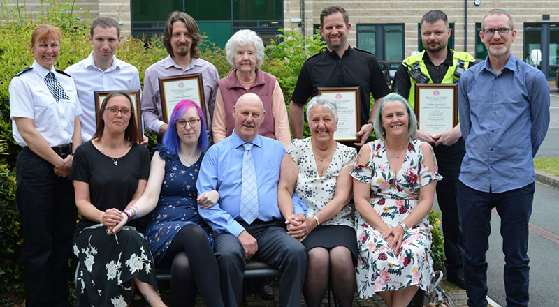Senior Lecturer in Adult Nursing Matthew Van Loo pictured back row, second from left.