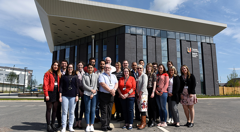 Participants and Teesside University staff at the first CPD course to be held at the National Horizons Centre.