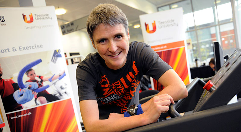 Sharon Gayter. Link to Sharon sets off with new record in her sights.
