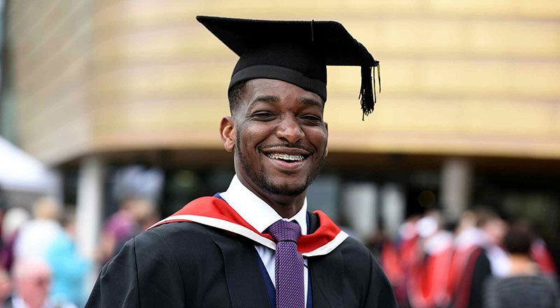 Yacouba Traore. Link to Hats off to Yacouba - graduation pride for former asylum seeker.