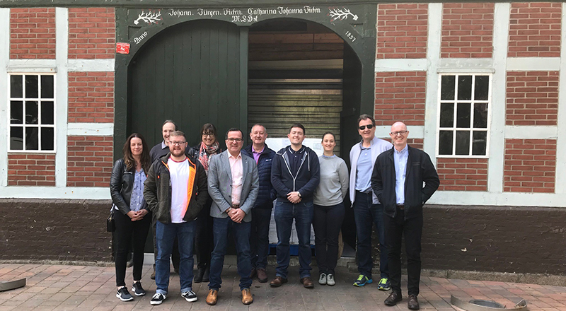 Staff and students on the MBA visit to Hamburg