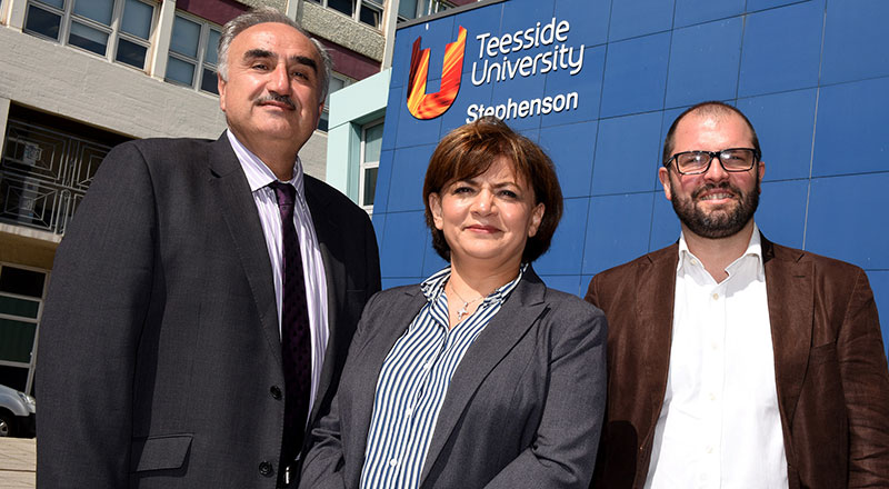 Research team members Professor Nashwan Dawood, Dr Huda Dawood and Dr Sergio Rodriguez