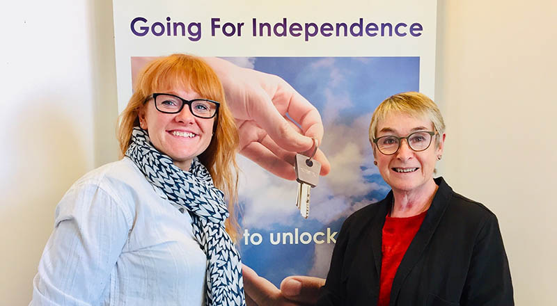 Social entrepreneur-in-residence Pam Bennett (right) with her daughter Sophie Bishop, who is also a director of Going for Independence.. Link to New entrepreneur in residence at Teesside University's Launchpad.