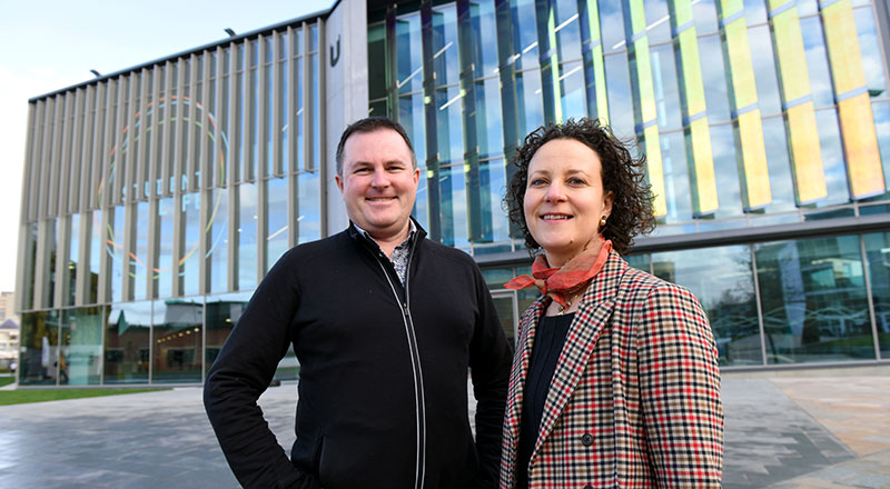 Professors Shaun Hendy and Amelia Lake
