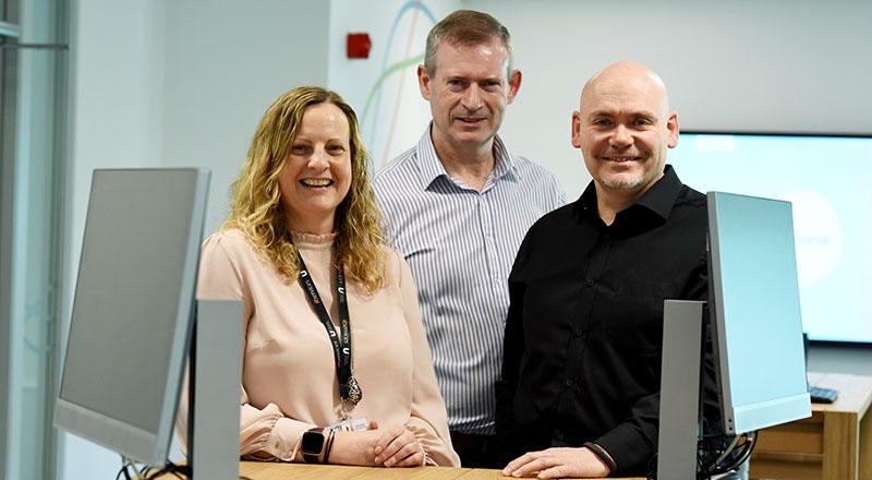 Lisa Jeffries, John Marsden and Paul Dalkin from ITDS.