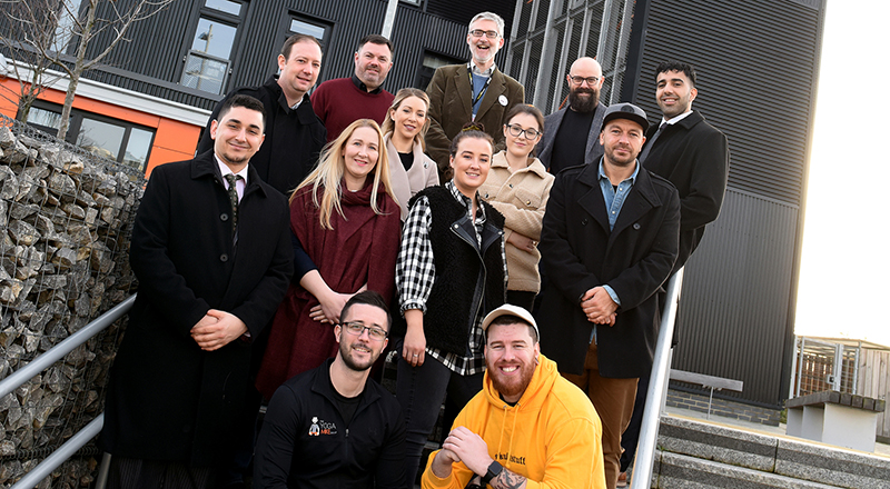 Members of the latest cohort of the DigitalCity Fellowship Accelerator. Link to DigitalCity showcases new Tees Valley tech talent.
